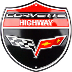 Sign - Corvette Highway Shield