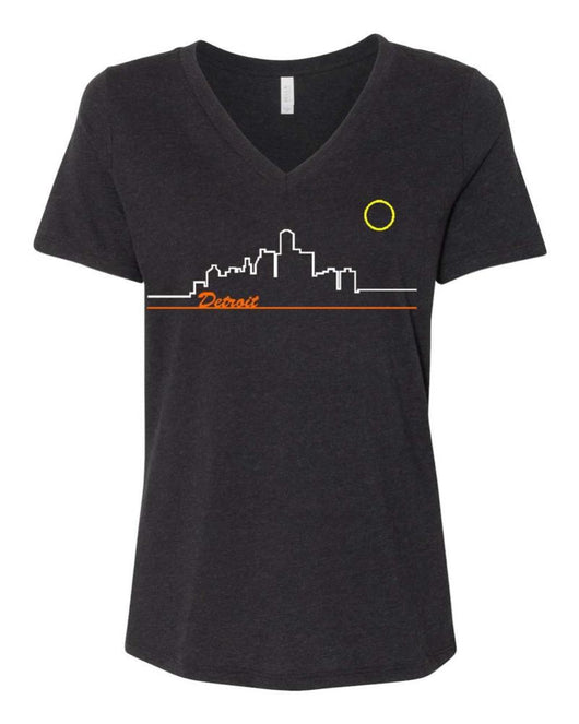 Ladies Relaxed V-neck Skyline - Triblend Black