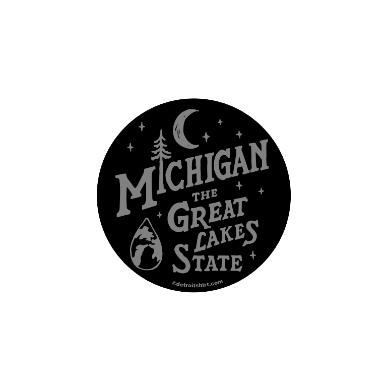 Sticker - Michigan Vintage Font