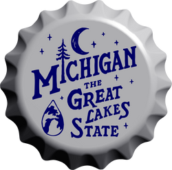 Sign - Michigan Vintage Bottle Cap