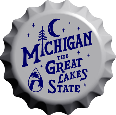 Sign - Michigan Vintage Bottle Cap-Sign-Detroit Shirt Company