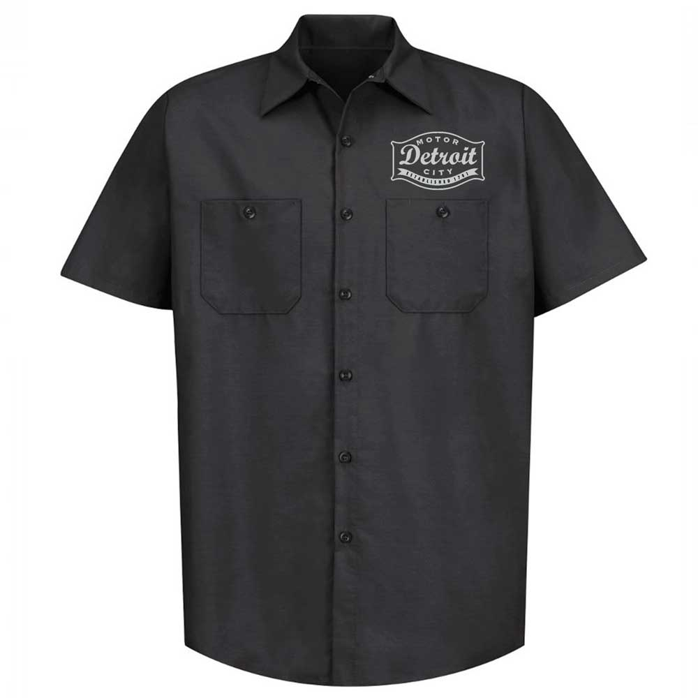 Mens Detroit Buckle Mechanic Shirt - Black