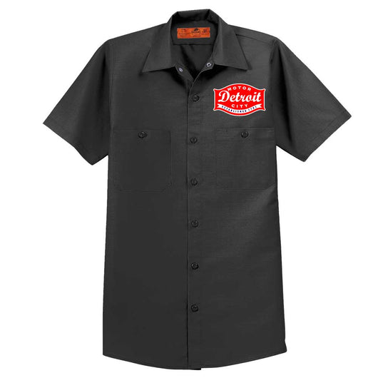 Mens Detroit Buckle Mechanic Shirt - Charcoal