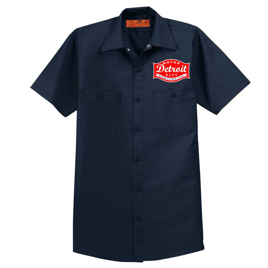 Mens/Unisex Detroit Buckle Navy – Dickies Mechanic Shirt