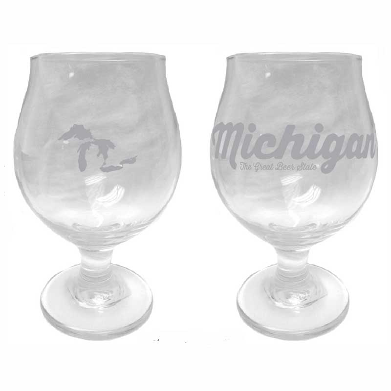 Tulip Glass - Michigan Script