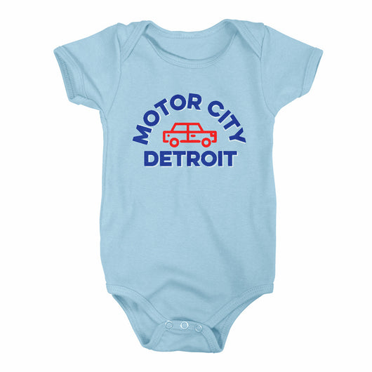 Baby Onesie - Motor City Detroit Arch-Detroit Shirt Company