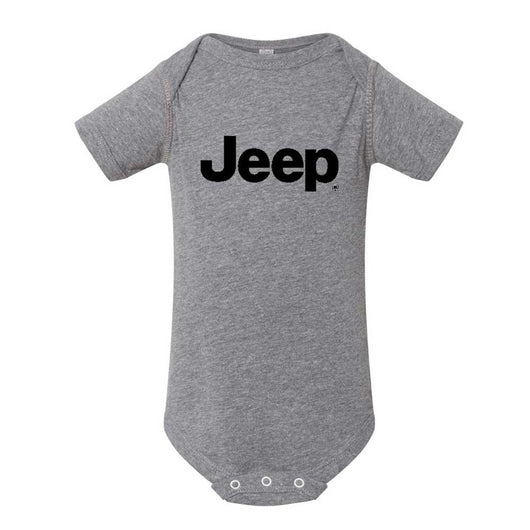 Baby Onesie - Jeep Text - Triblend Grey