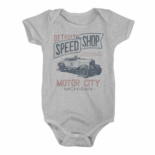 Baby Onesie - Detroit Speed Shop-Onesies-Detroit Shirt Company