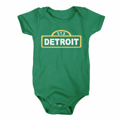 Baby Onesie - Detroit Street Sign-Onesies-Detroit Shirt Company