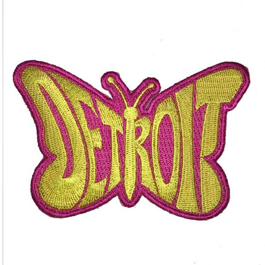 Patch - Detroit Yellow Butterfly-Patches-Detroit Shirt Company