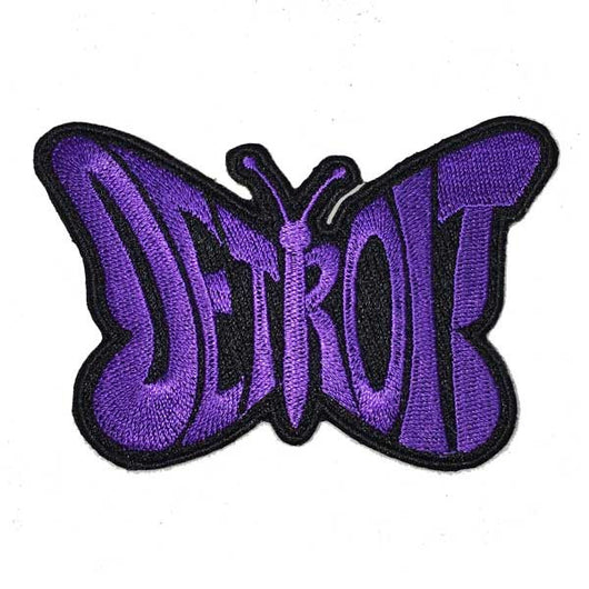 Patch - Detroit Purple Butterfly-Patches-Detroit Shirt Company