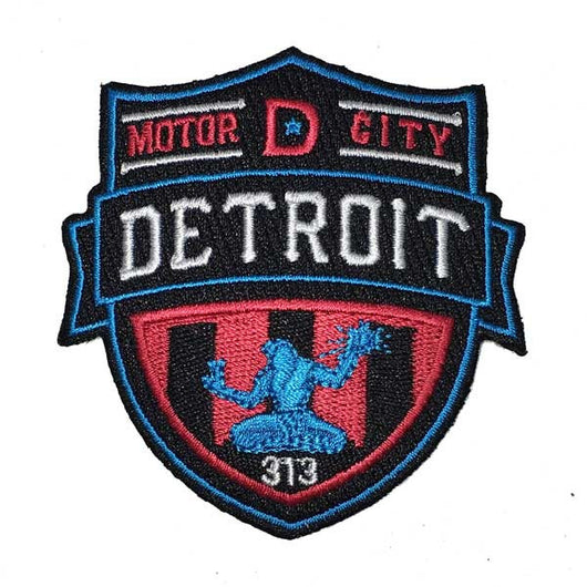 Patch - Detroit Shield-Patches-Detroit Shirt Company
