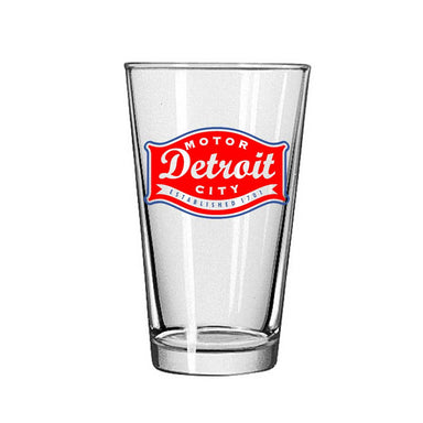 Pint Glass - Detroit Buckle-Glassware-Detroit Shirt Company