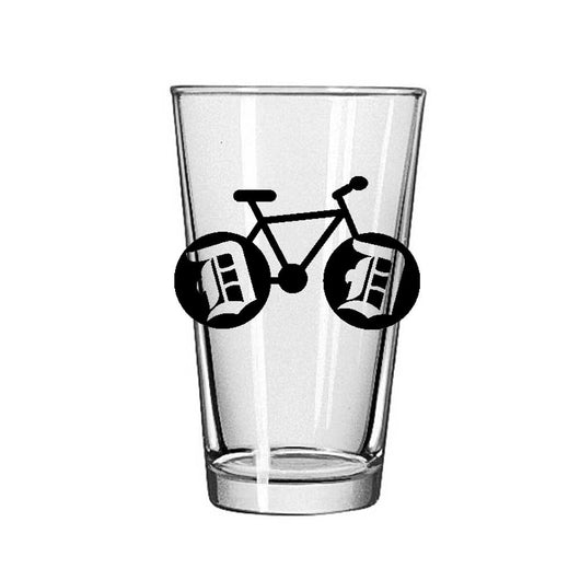 Pint Glass - Detroit Bike-Glassware-Detroit Shirt Company
