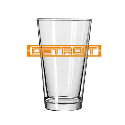 Pint Glass - Detroit GT Orange-Glassware-Detroit Shirt Company