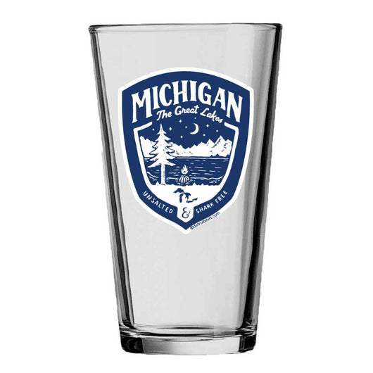 Pint Glass - Michigan Shield