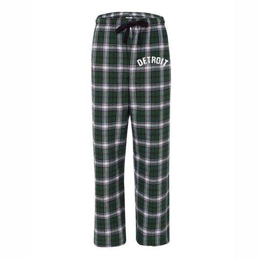 Detroit Bend Unisex Flannel Pants - Green/White