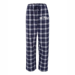 Detroit Bend Unisex Flannel Pants - Navy/Silver