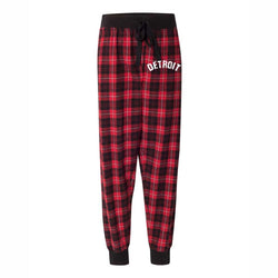 Ladies Detroit Bend Flannel Tailgate Joggers - Red/Black