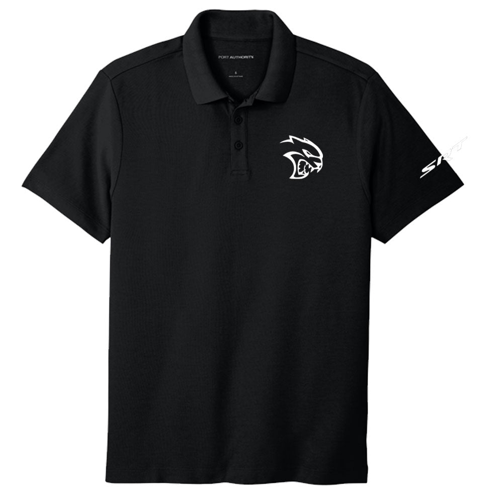 Mens Dodge SRT Hellcat Polo Shirt - Black