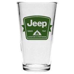 Pint Glass - Jeep Tent Badge