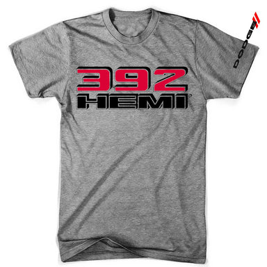Mens Triblend Dodge 392 Hemi T-shirt (Grey) | Detroit Shirt Co.