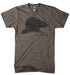 Mens Detroit Triblend Big Beaver T-shirt (Brown) | Detroit Shirt Co.