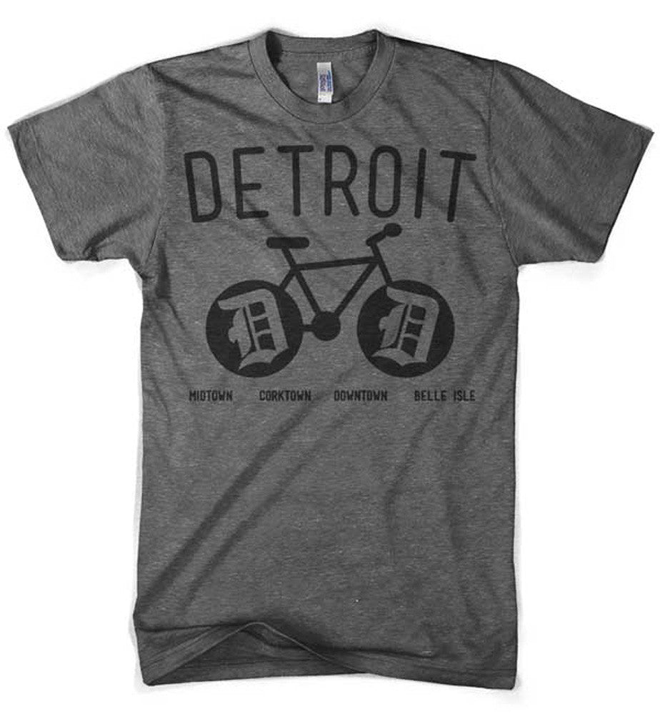 Mens Triblend Detroit Bike T-shirt (Grey) | Detroit Shirt Co.