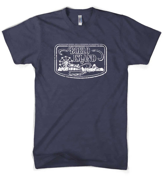 Mens Boblo Island T-shirt (Navy) | Detroit Shirt Co.