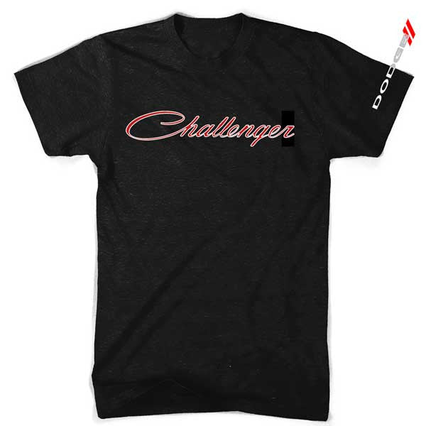 Mens Dodge Challenger T-shirt (Black) | Detroit Shirt Co.
