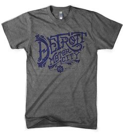 Mens Detroit Vintage Font - Triblend Grey