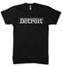 Mens Detroit Grigio T-shirt (Black) | Detroit Shirt Co.