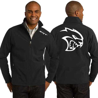 Jacket - Mens Soft Shell Dodge SRT Hellcat-Outerwear-Detroit Shirt Company