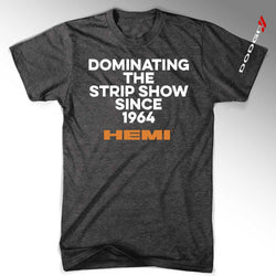 Mens Hemi Dominating the Strip Show - Black-Mens-Detroit Shirt Company