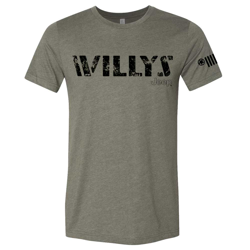 Mens Jeep® Willys Triblend T-Shirt - Military Green