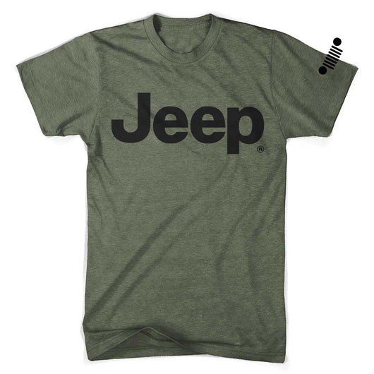 Mens Jeep® Text Triblend T-Shirt - Triblend Military Green