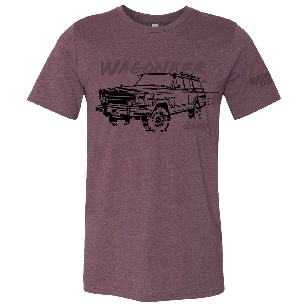 Mens Jeep® Wagoneer - LDD Series - Triblend Burgundy T-Shirt