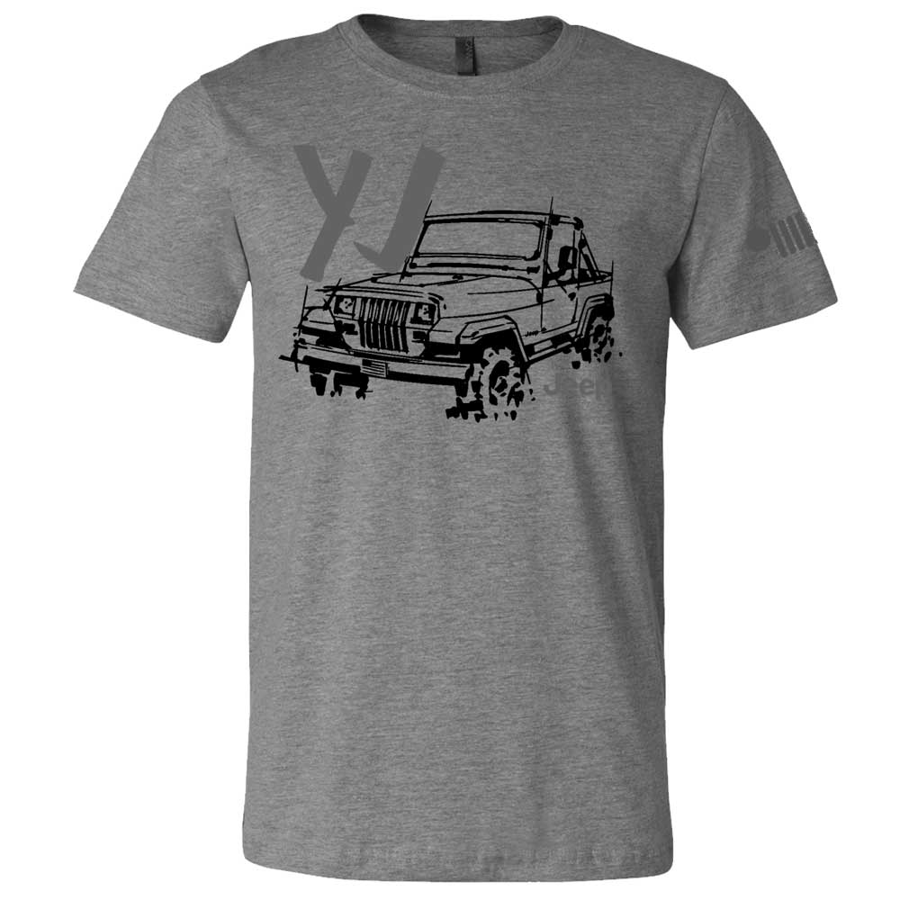 Mens Jeep® YJ - LDD Series - Triblend Grey T-Shirt