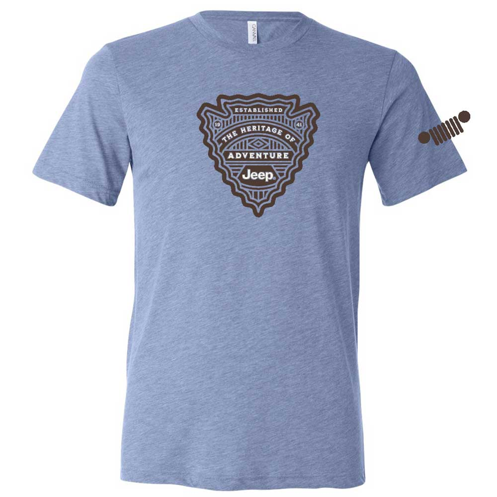 Mens Jeep® Arrowhead T-Shirt - Blue Tri-blend