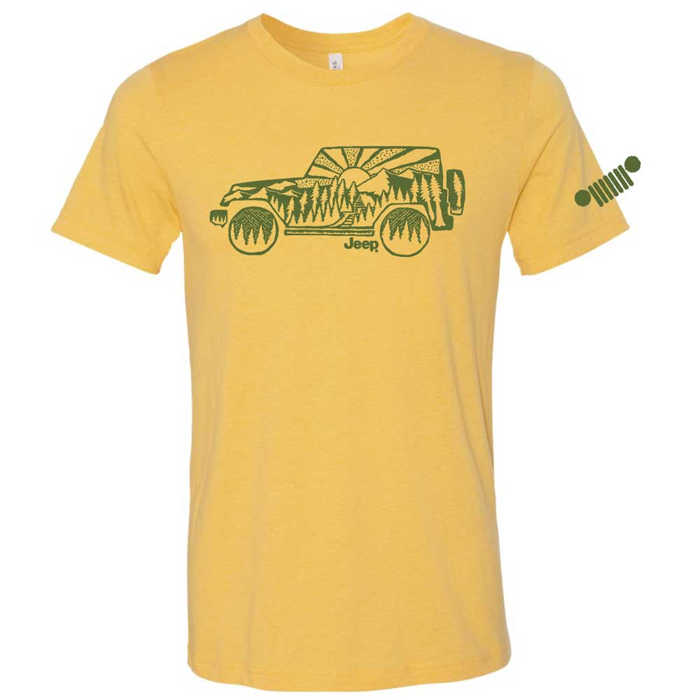 Mens Jeep® Wrangler Atomic Side T-Shirt - Gold Heather