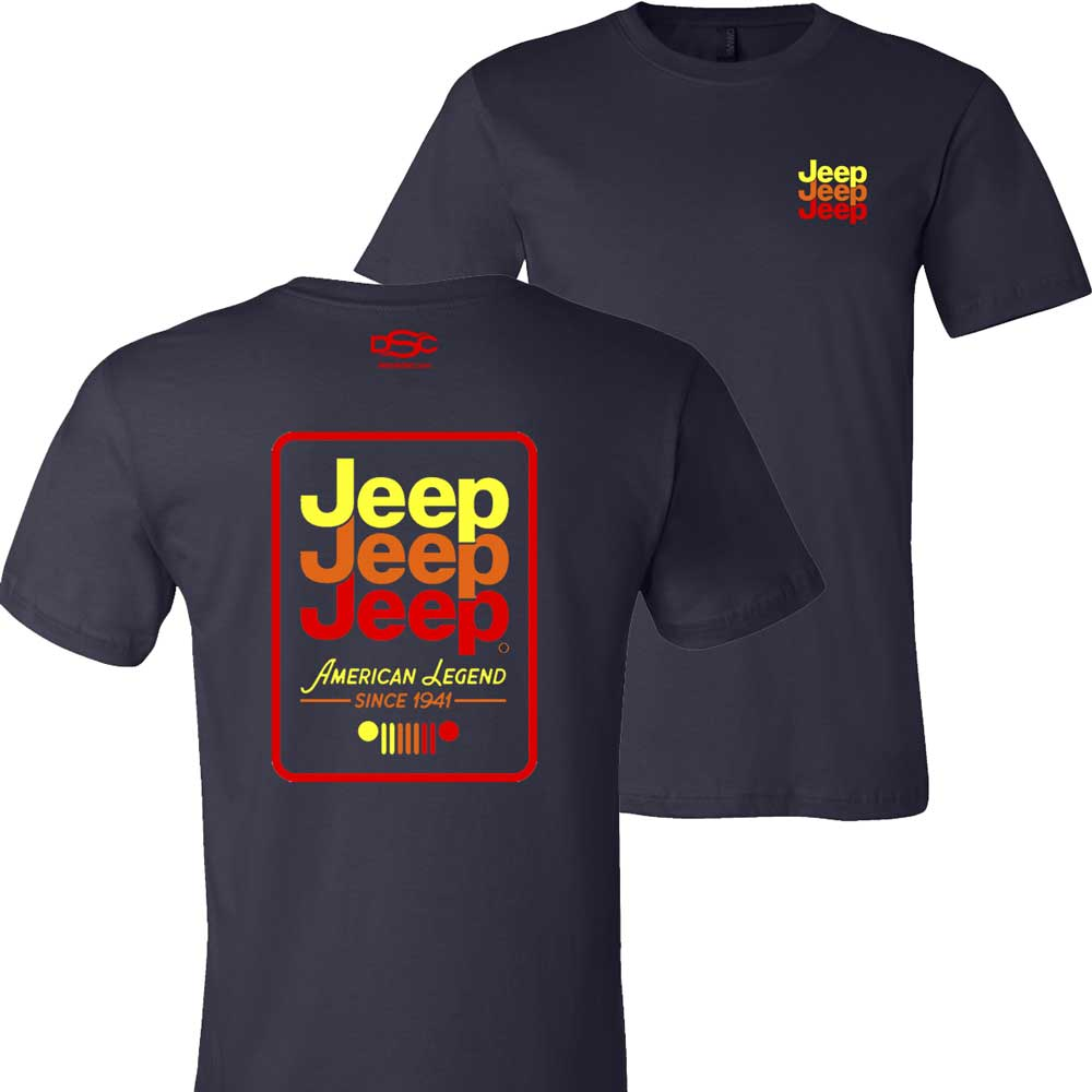 Mens Jeep® Echo T-Shirt - Navy Blue