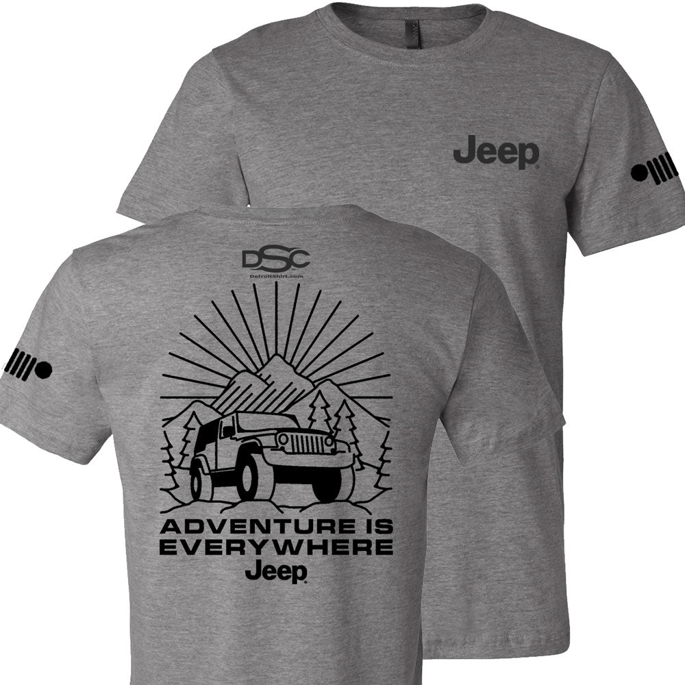 Mens Jeep® Burst T-Shirt - Triblend Grey