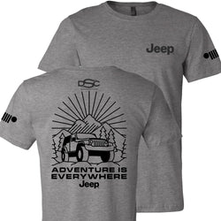 Mens Jeep® Burst T-Shirt - Heather Grey