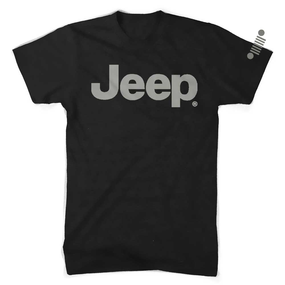 Mens Jeep® Text Blackout T-Shirt - Black
