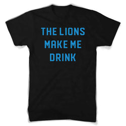 Mens Lions Make Me Drink T-shirt (Black)