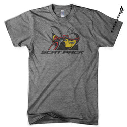Mens Triblend Dodge Scat Pack T-shirt (Grey) | Detroit Shirt Co.