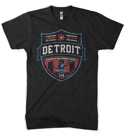 Mens Detroit Shield RWB - Heather Black