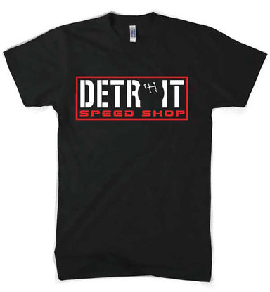 Mens Detroit Speed Shop Shifter T-shirt (Black) | Detroit Shirt Co.