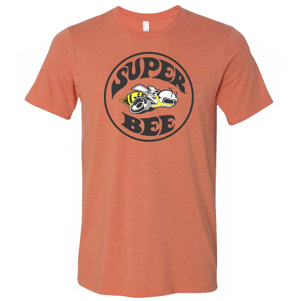 Mens Dodge Super Bee T-shirt (Heather Orange)