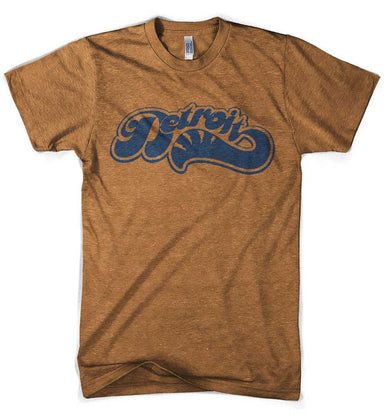 Mens Detroit Sweep T-shirt (Heather Orange) | Detroit Shirt Co.